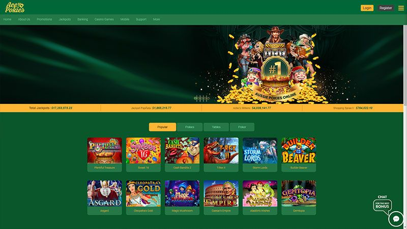 acepokies lobby screenshot