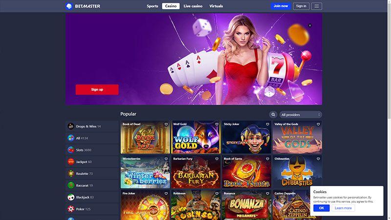 betmaster lobby screenshot