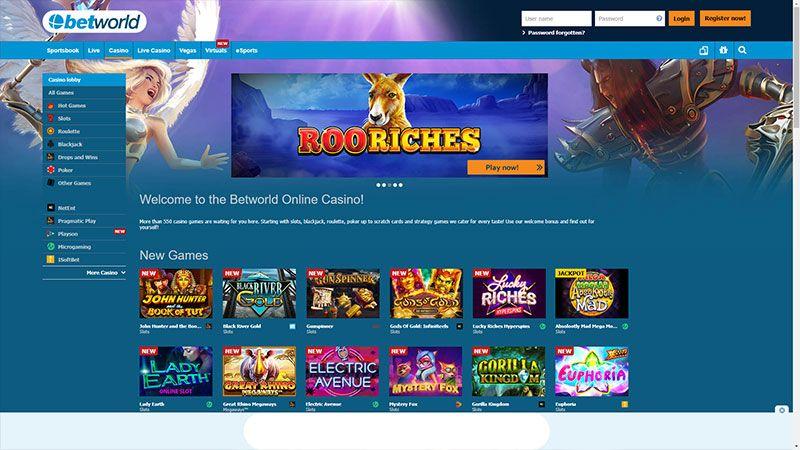 betworld lobby screenshot