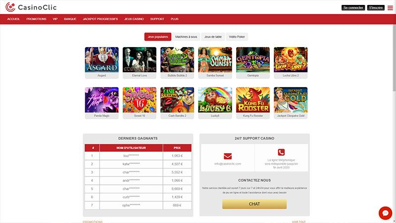 casinoclic lobby screenshot