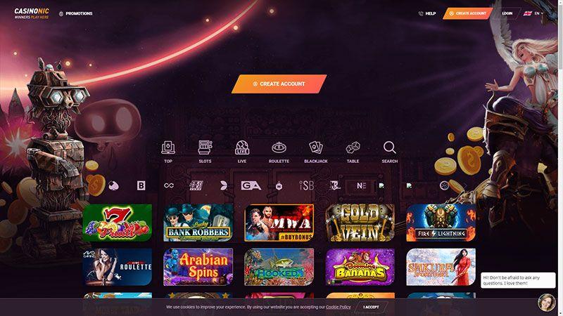 casinonic lobby screenshot