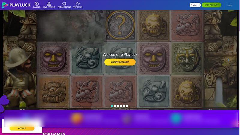 playluck lobby screenshot