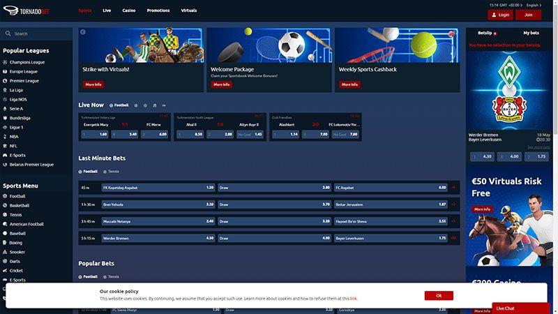 tornadobet lobby screenshot