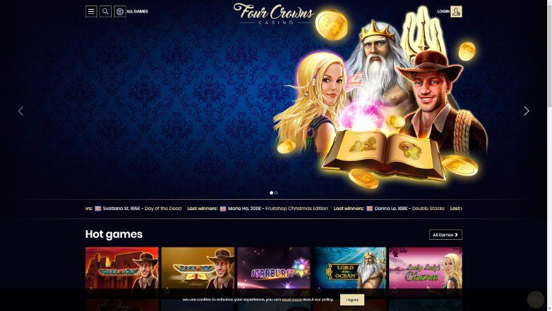 4crowns casino lobby screenshot