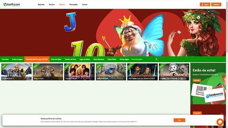 bet9 lobby screenshot