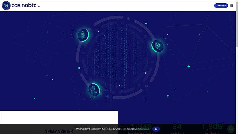 casinobtc lobby screenshot