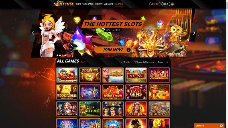 casinointense lobby screenshot