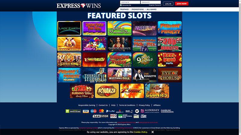expresswins lobby screenshot