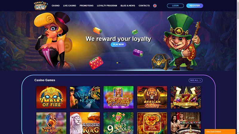 pokies2go lobby screenshot