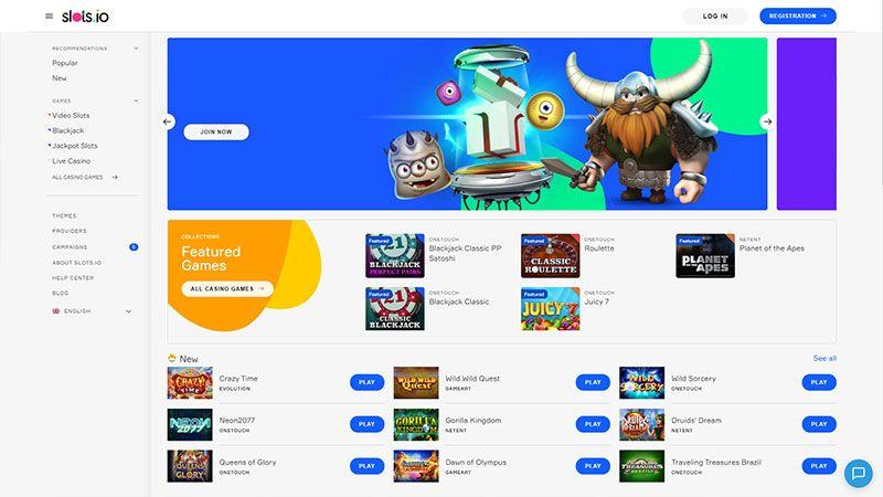 slotsio lobby screenshot