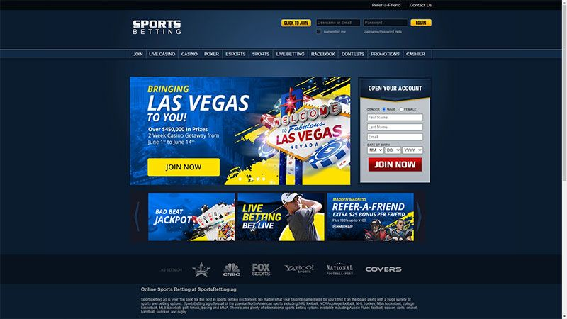 sportsbetting lobby screenshot
