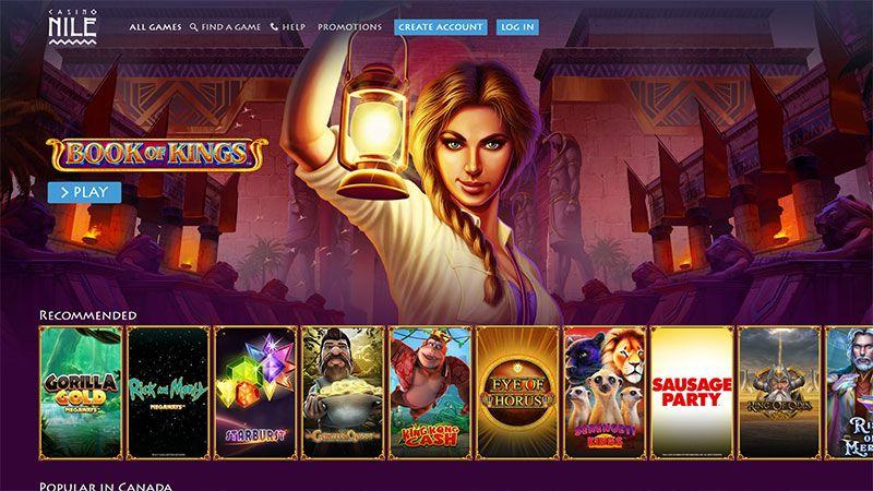 casino nile lobby screenshot