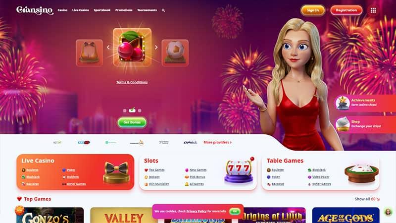 gransino lobby screenshot