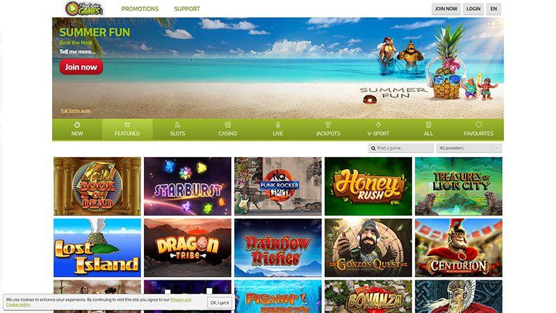 play casino games lobby screenshot