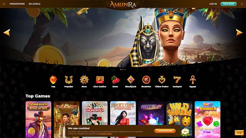 amunra lobby screenshot
