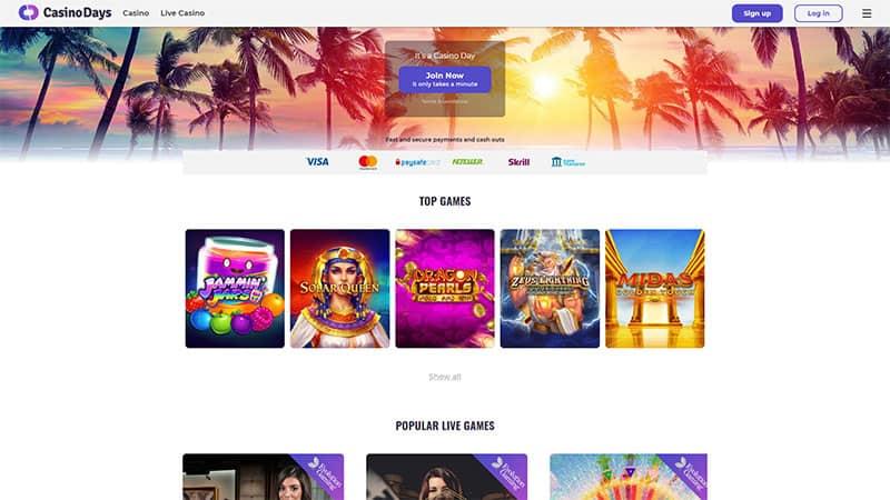 casino days lobby screenshot