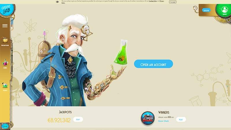 casino lab lobby screenshot