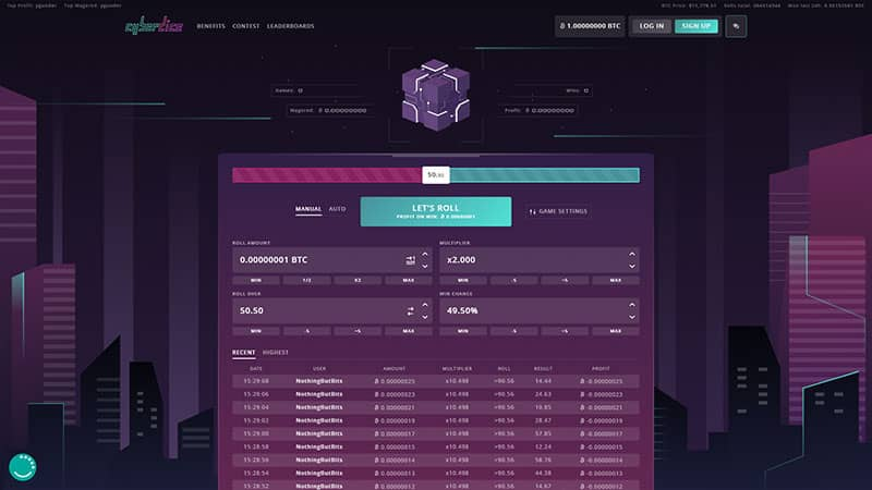 cyberdice lobby screenshot