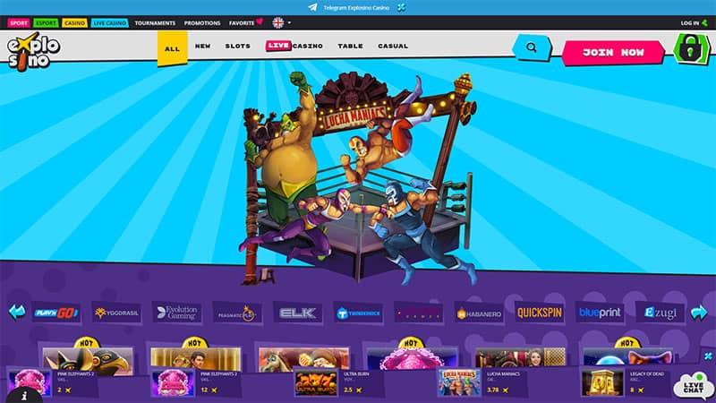 explosino lobby screenshot