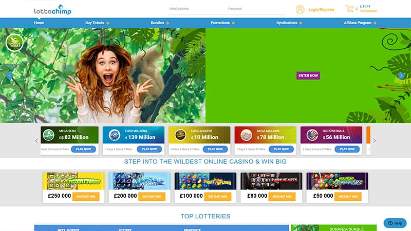 lottochimp lobby screenshot