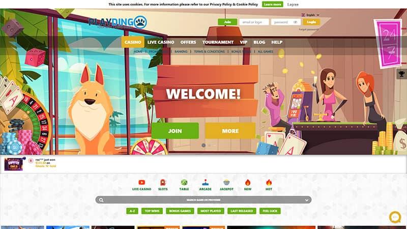 playdingo lobby screenshot