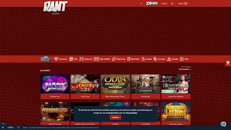 rant lobby screenshot