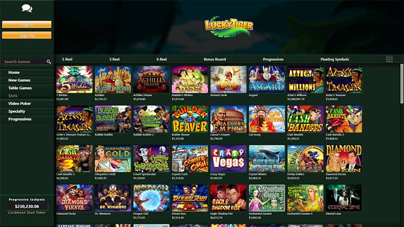 luckytiger slots screenshot