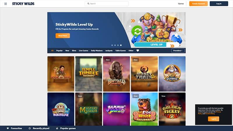 stickywilds lobby screenshot