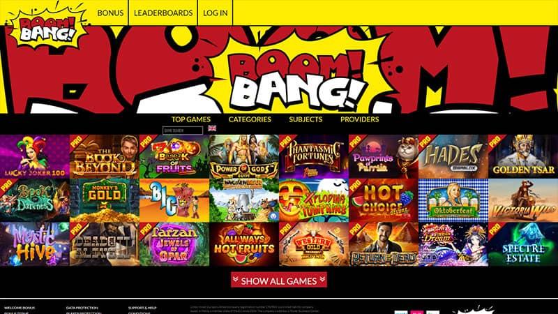 boombang lobby screenshot