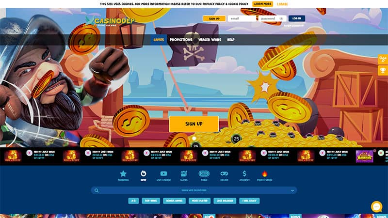 casinodep lobby screenshot