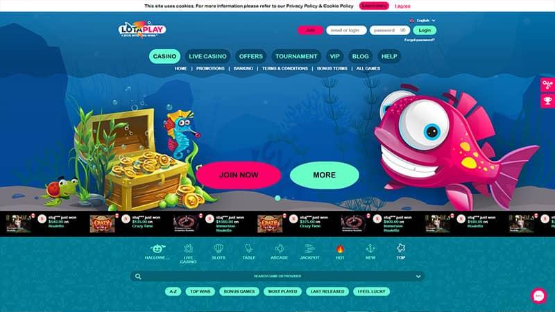 lotaplay lobby screenshot