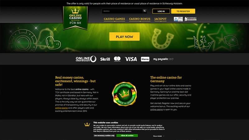 onlinecasinode lobby screenshot