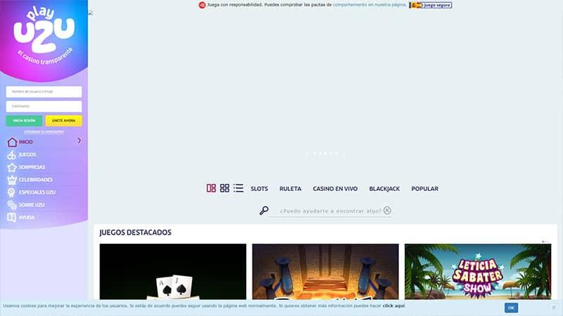 playuzu lobby screenshot