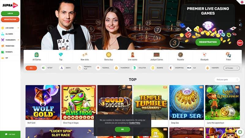 supraplay lobby screenshot