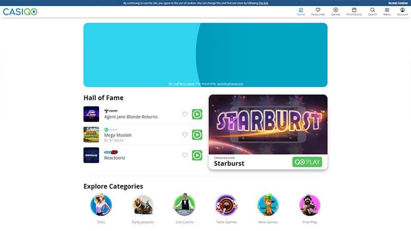 casigo lobby screenshot