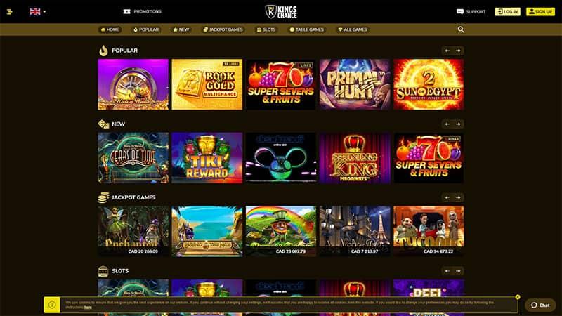 kingschance lobby screenshot