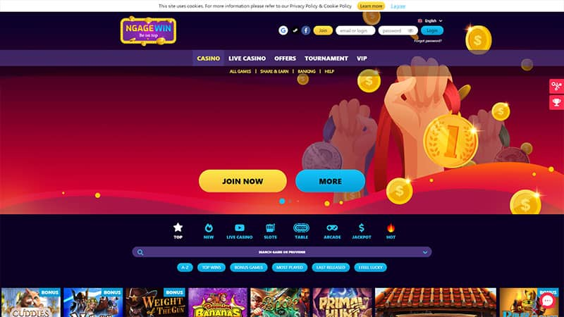 ngagewin lobby screenshot