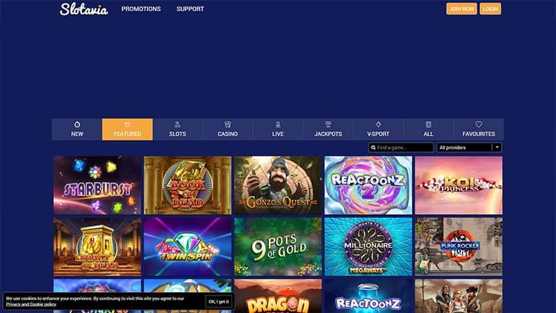 slotavia lobby screenshot