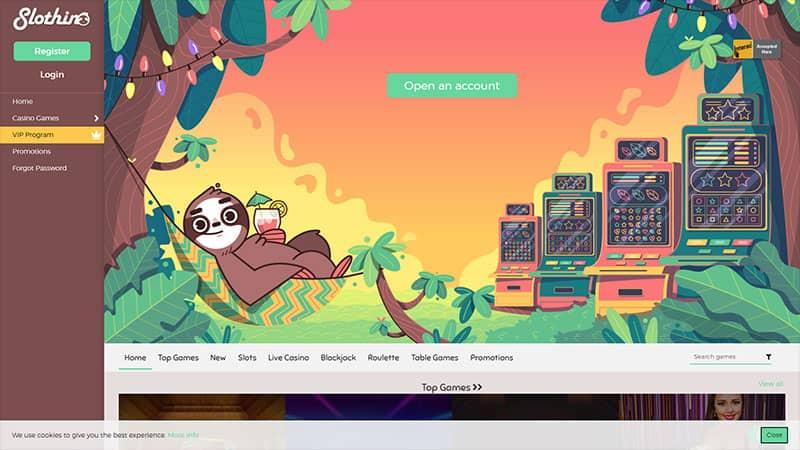 slothino lobby screenshot