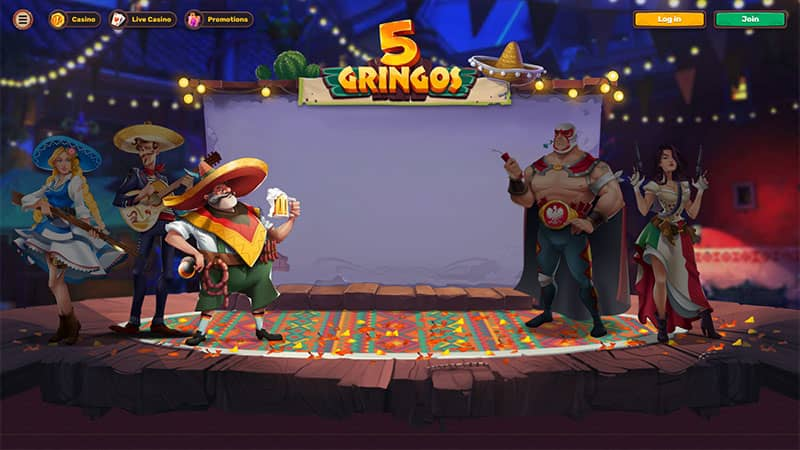 5gringos lobby screenshot