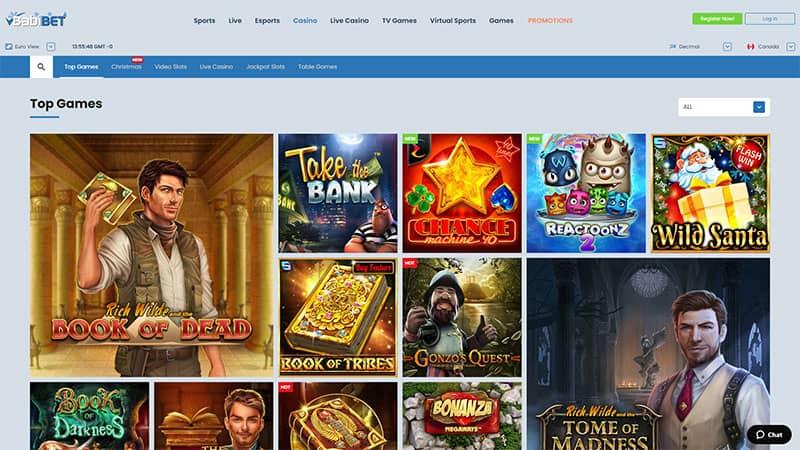 badibet lobby screenshot