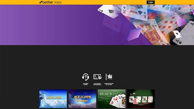 betfair poker lobby screenshot