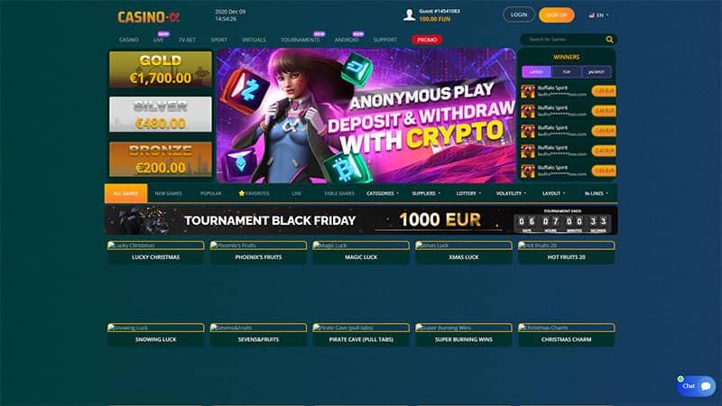 casino alpha lobby screenshot