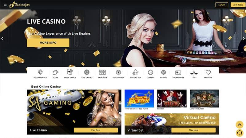 casinojet lobby screenshot