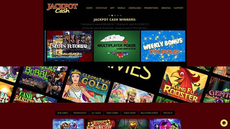 jackpotcash lobby screenshot
