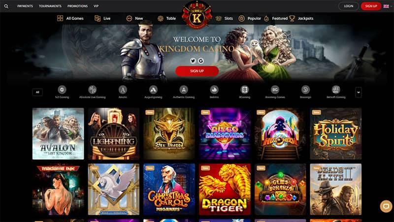 kingdom casino lobby screenshot