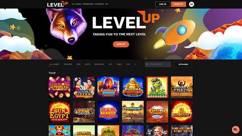 levelup lobby screenshot