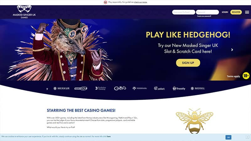 maskedsingergames lobby screenshot