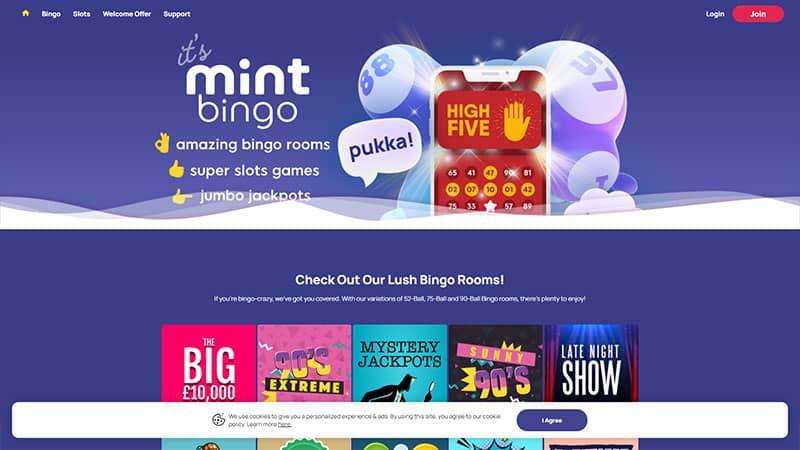 mint bingo lobby screenshot