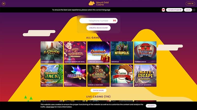 mount gold lobby screenshot